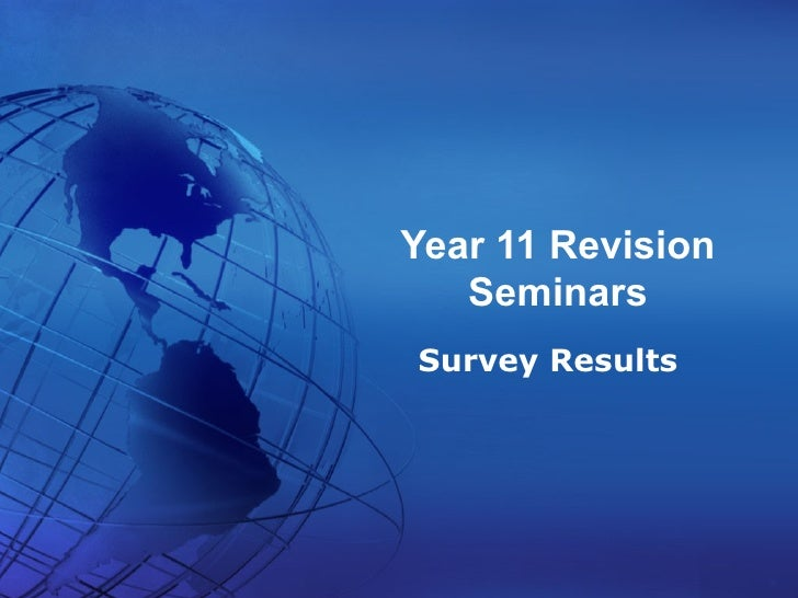 Year 11 Revision Seminars April 2008