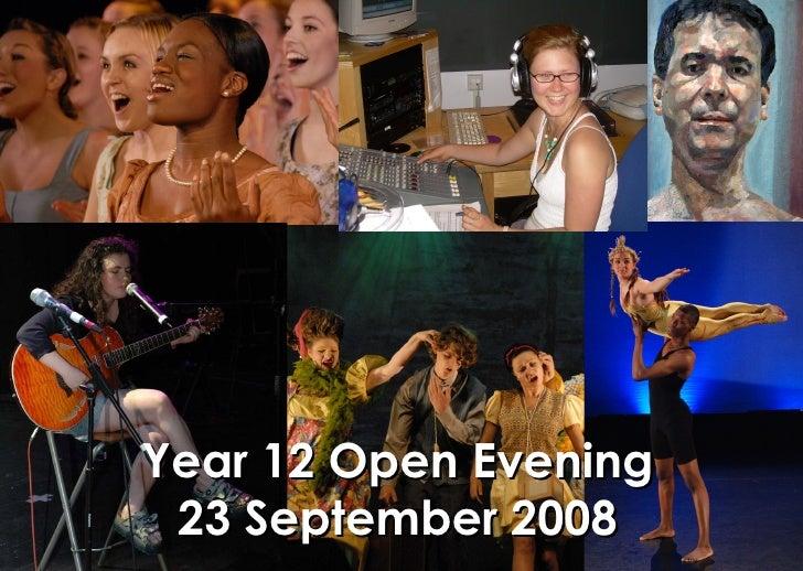 Year 12 Open Evening Presentation 08
