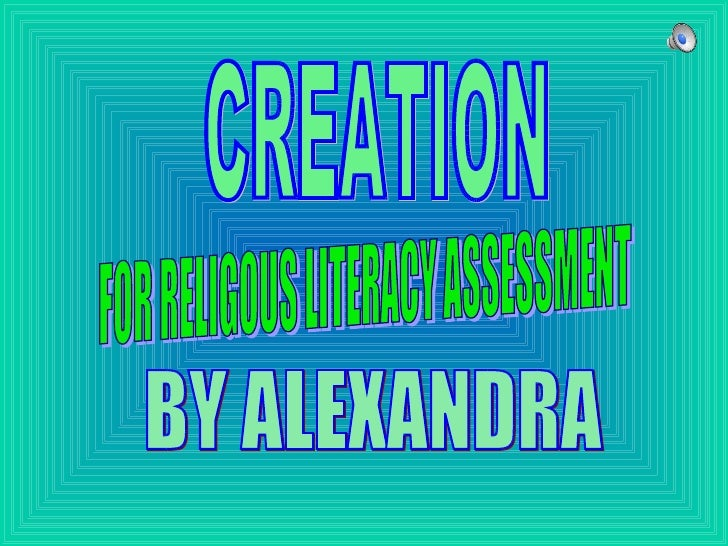 BY ALEXANDRA  FOR RELIGOUS LITERACY ASSESSMENT CREATION