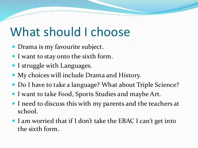 What should i pick in my year 9 options?