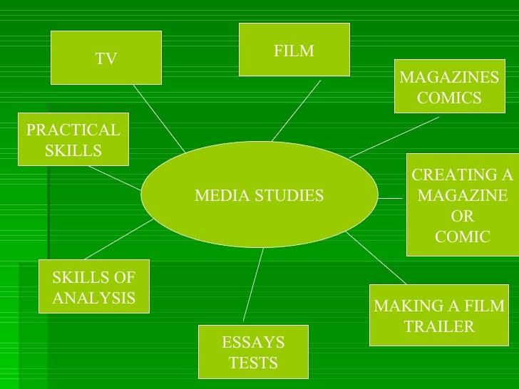 MEDIA STUDIES TV FILM MAGAZINES COMICS ESSAYS TESTS SKILLS OF ANALYSIS PRACTICAL SKILLS MAKING A FILM TRAILER CREATING A M...