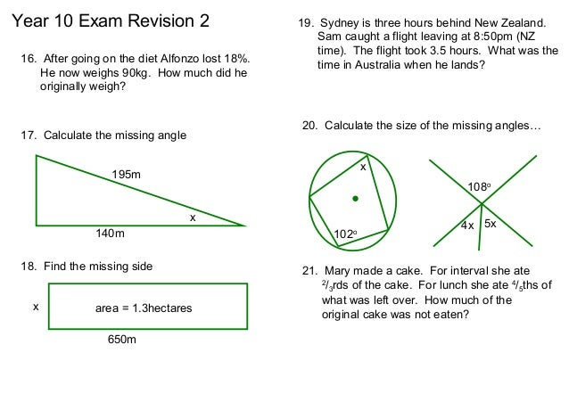 Free Worksheets Year 4 Maths Revision Worksheets Free Math – Year 7 Maths Revision Worksheets