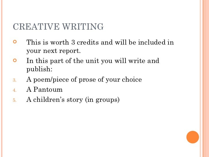 GCSE Creative Writing, Really need direction?