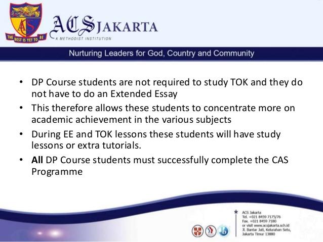 IB Coursework Deadlines January 2015