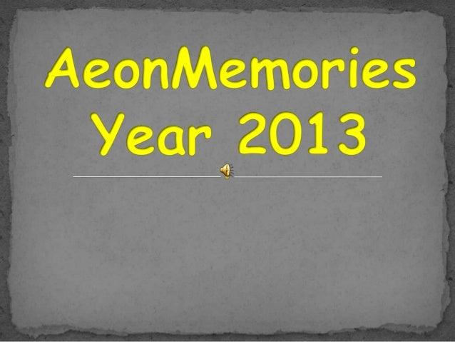 Year 2013 & aeon