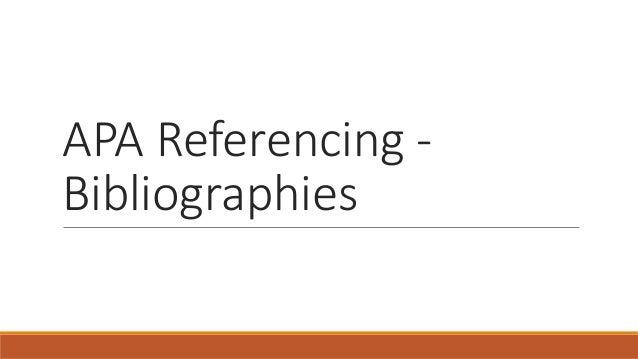 apa bibliographies