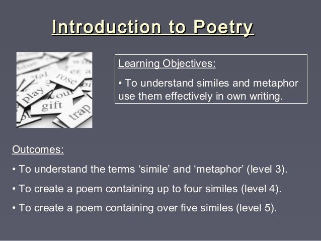 uploads poetry intro with metaphor simile terms
