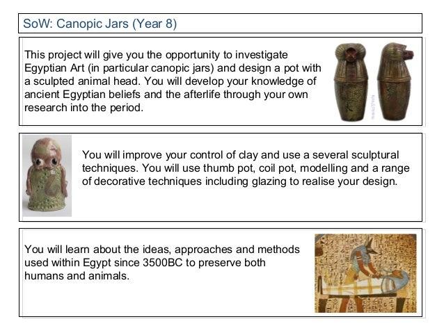 Year 8 canopic jar