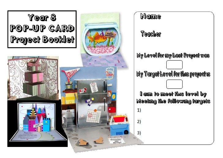Year 8 Graphics Pop Up Booklet