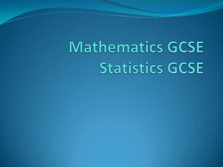 gcse statistics coursework 2011