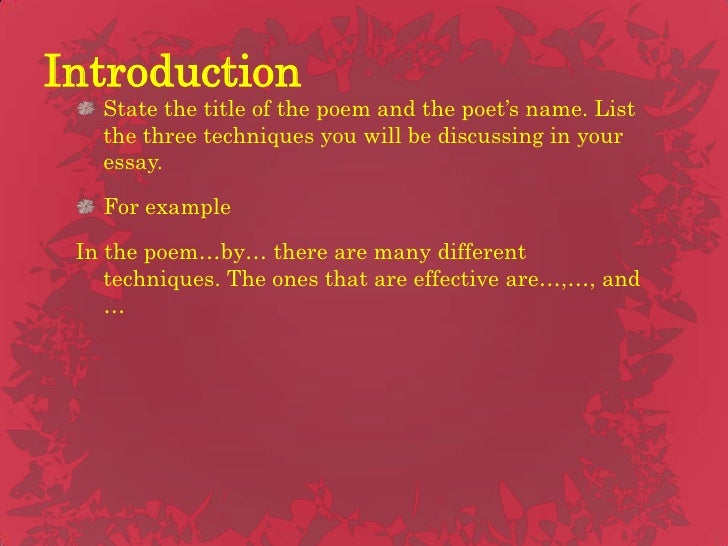 When writing an essay about poetry, how should the title of the poem be written?