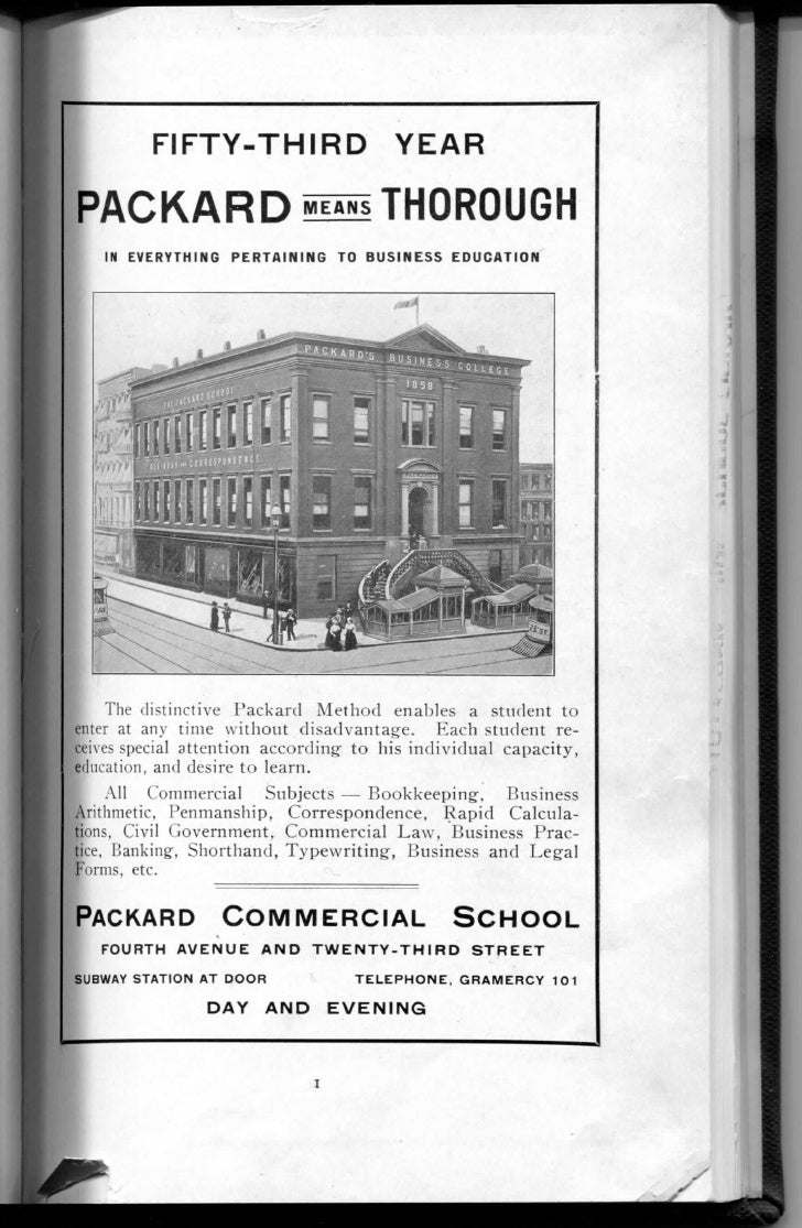 FIFTY-THIRD                    YEAR  PACKARD «s« THOROUGH     IN E V E R Y T H I N G PERTAINING TO BUSINESS EDUCATION     ...