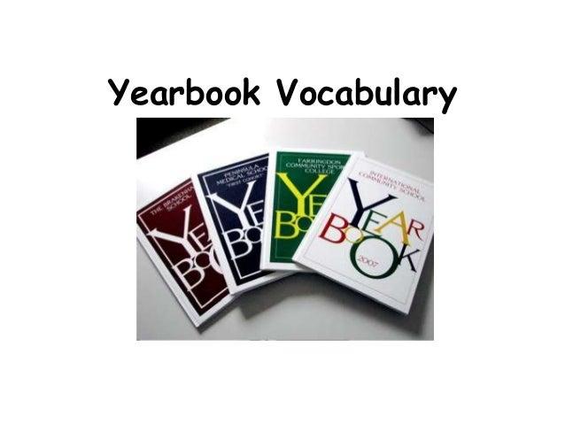 Yearbook Vocabulary