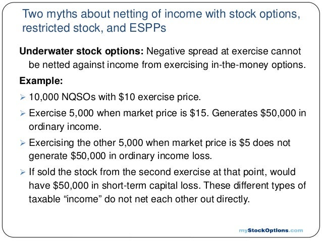 Tax rate on stock options exercise