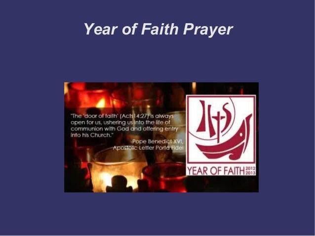 Year of Faith Prayer