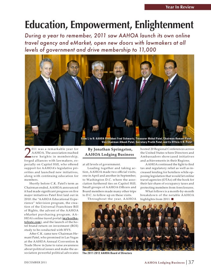 AAHOA 2011 Year In Review