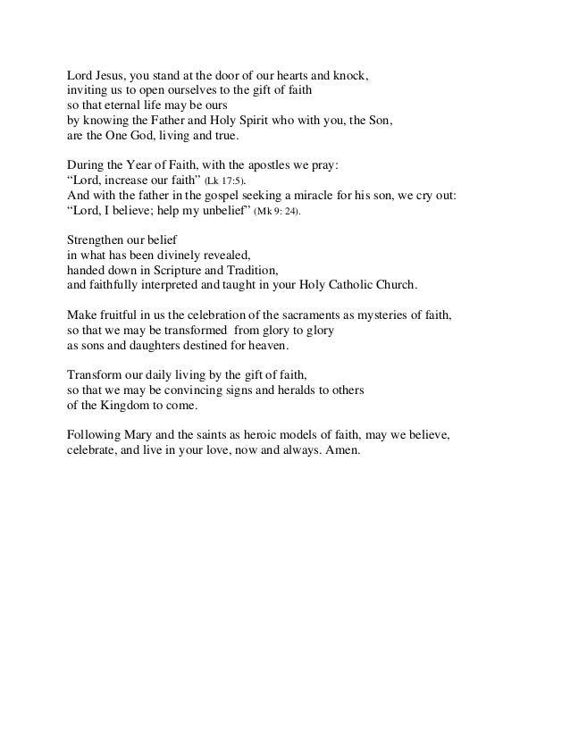 Year of faith_prayer_revised_091712
