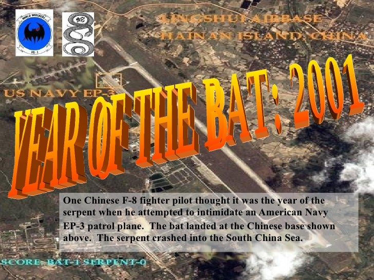 One Chinese F-8 fighter pilot thought it was the year of the serpent when he attempted to intimidate an American Navy  EP-...