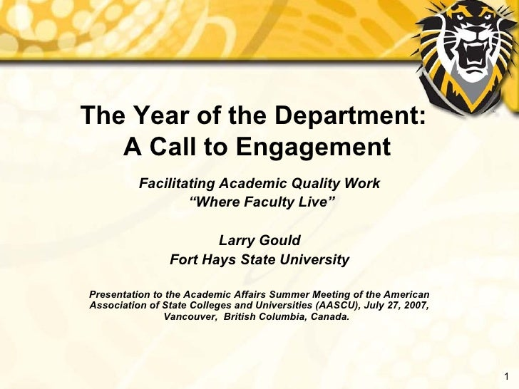 Year of the Department
