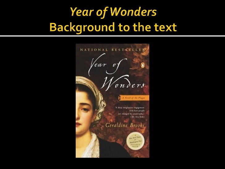 Year of wonders historical background