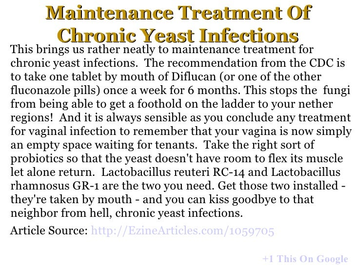 Chronic Yeast Infection Natural Treatment