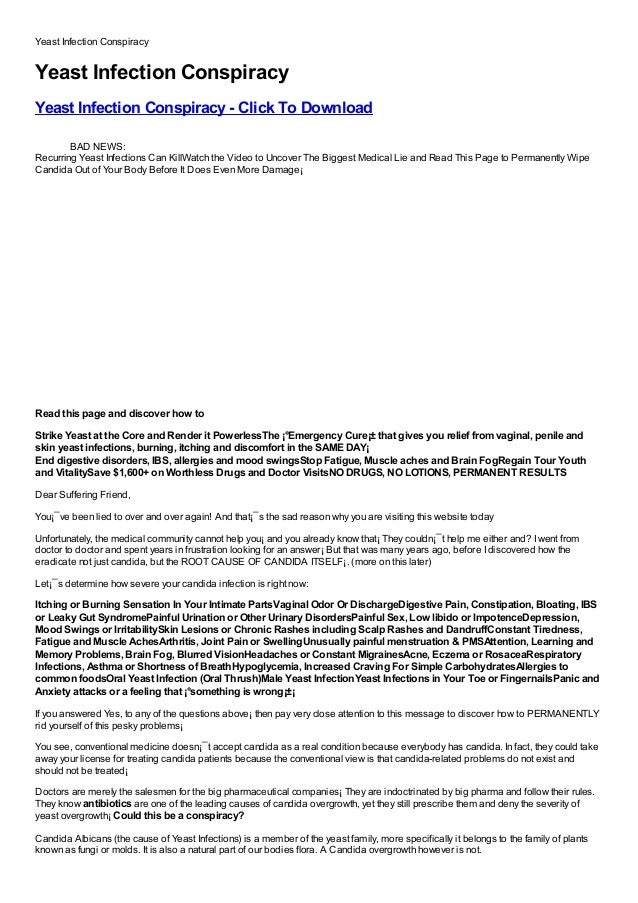 Yeast Infection ConspiracyYeast Infection ConspiracyYeast Infection Conspiracy - Click To DownloadFree, Buy, Full Version,...
