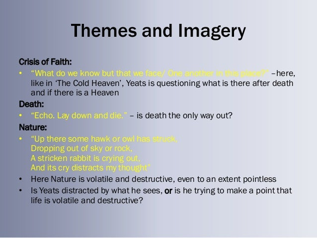 the second coming analysis What did yeats describe in the second coming what was the purpose of the poem.