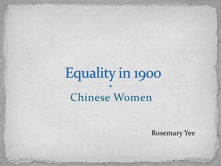 Chinese Women            Rosemary Yee