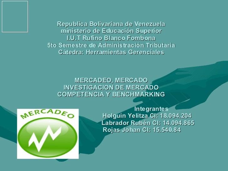 Republica Bolivariana de Venezuela ministerio de Educación Superior I.U.T Rufino Blanco Fombona 5to Semestre de Administra...