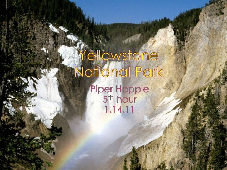 Yellowstone National Park<br />Piper Hopple<br />5th hour<br />1.14.11<br />