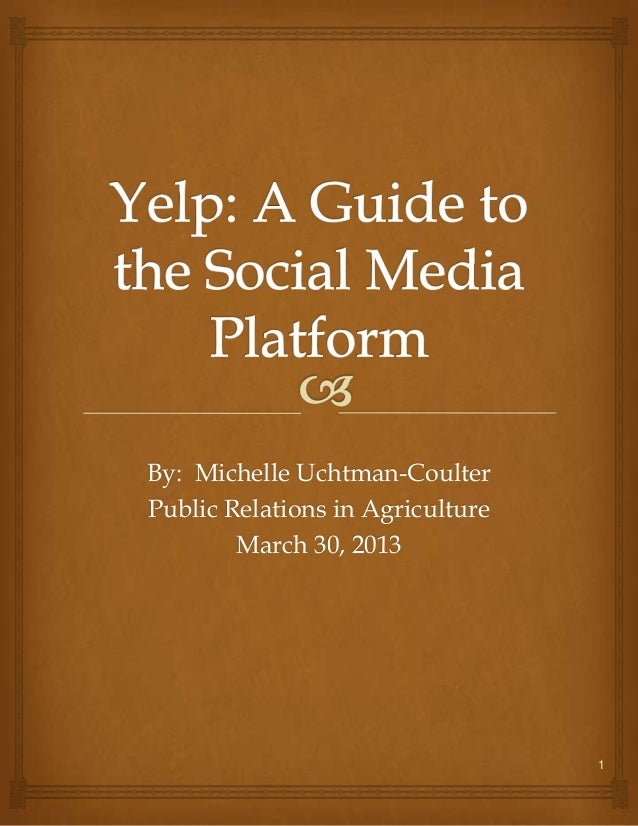By: Michelle Uchtman-CoulterPublic Relations in Agriculture        March 30, 2013                                  1