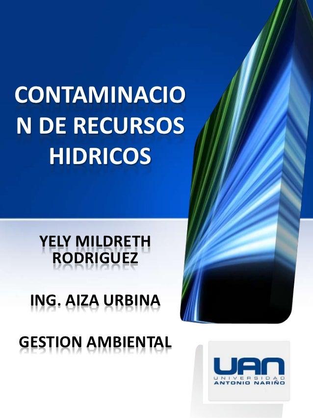 contaminacion del agua colombia