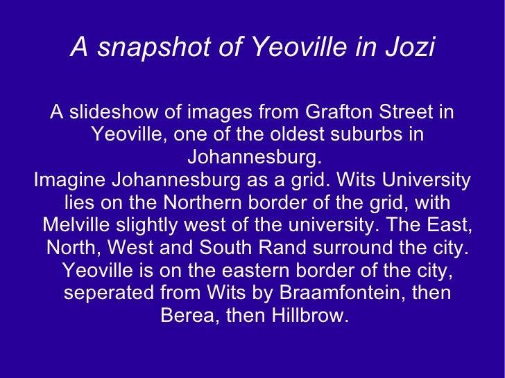 Yeoville In Jozi