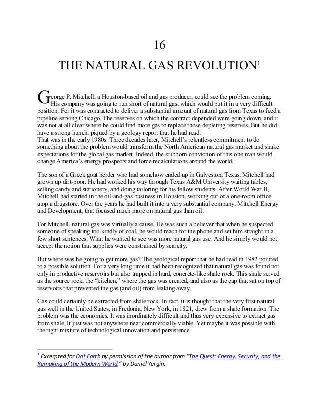 Daniel Yergin on Fracking Pioneer George Mitchell