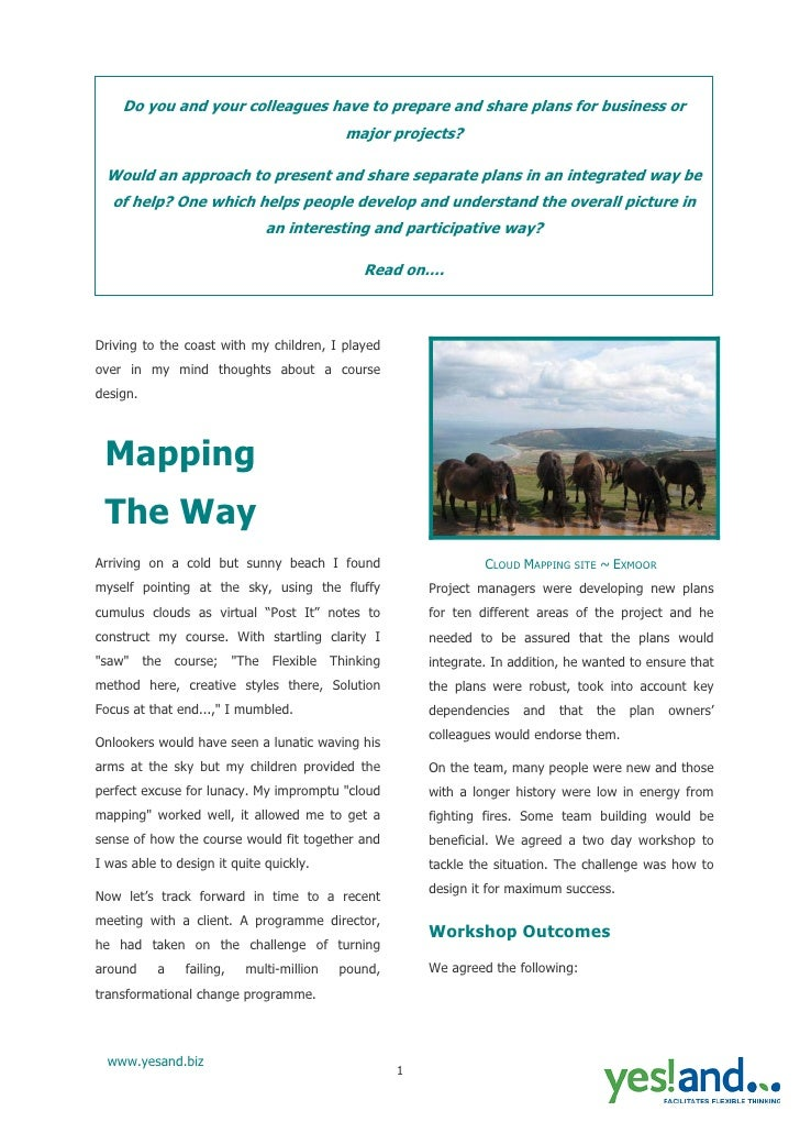 Yes  And  Mapping Article For Web