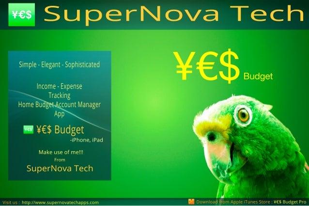 Downloadfrom AppleiTunesStore:¥€$BudgetProhttp://www.supernovatechapps.com Budget¥€$ Visitus: SuperNovaTech From Makeuseof...