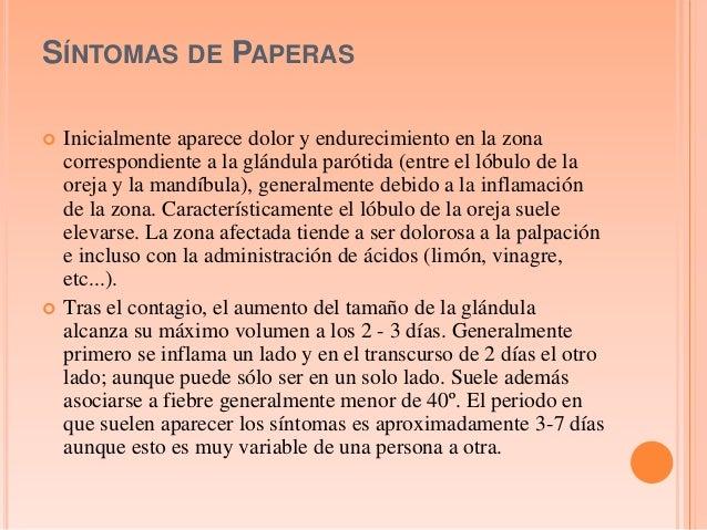 Paperas contagio