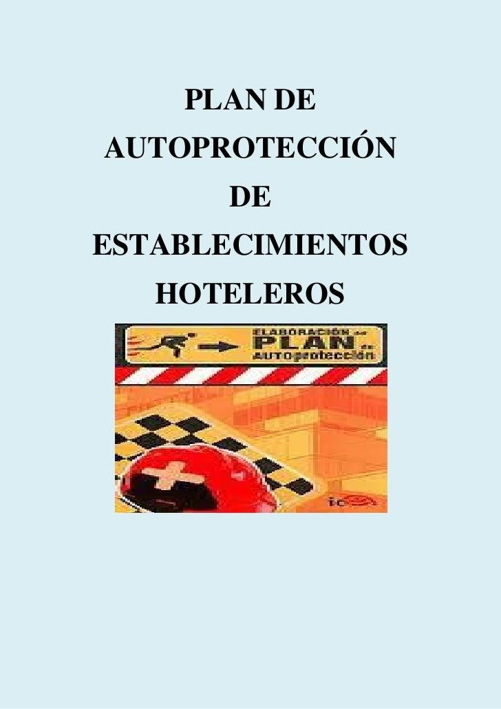 PLAN DEAUTOPROTECCIÓN      DEESTABLECIMIENTOS   HOTELEROS