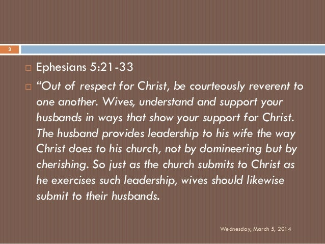ephesians 5:21-33 the message