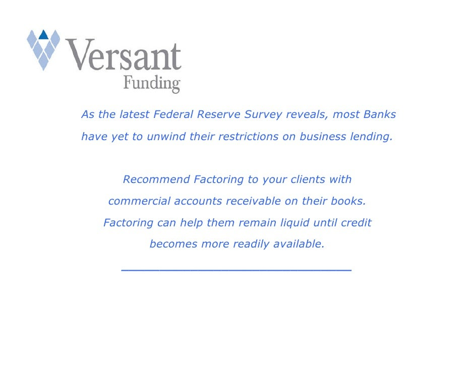 As the latest Federal Reserve Survey reveals, most Banks  have yet to unwind their restrictions on business lending.      ...