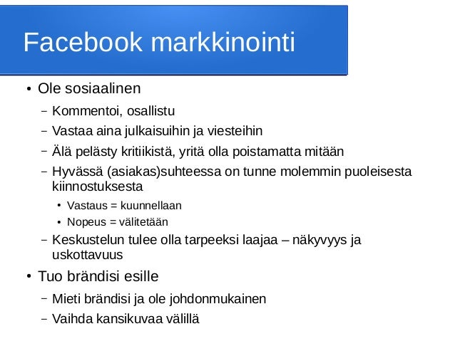 yritykselle facebook sivut Raisio