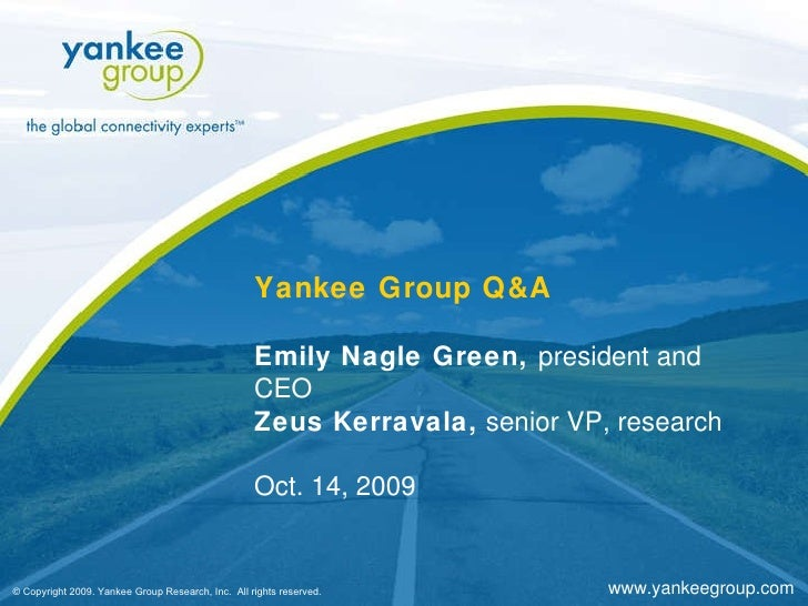 Yankee Group Q&A with Emily Green, CEO