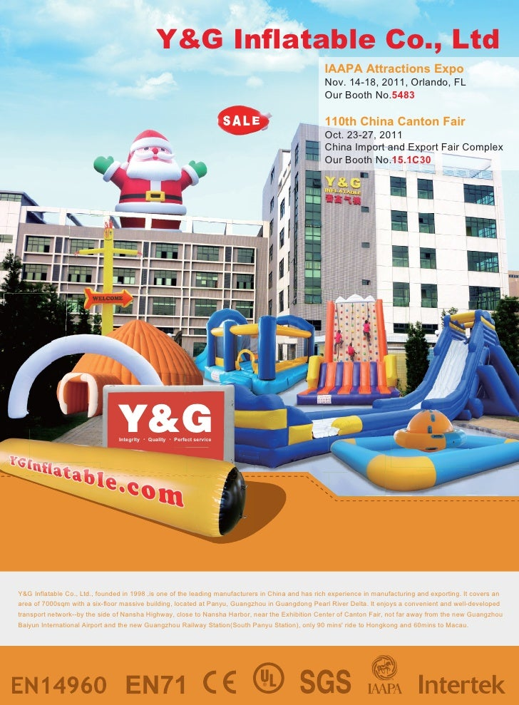 Y&G Inflatable Co., Ltd                                                                                                   ...