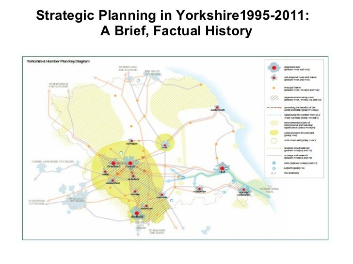 Strategic Planning in Yorkshire1995-2011:  A Brief, Factual History