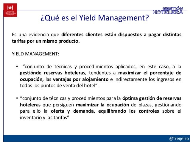 yield management This paper presents a model of the impact of customer satisfaction due to service  quality and yield management practices on hotel performance a survey of a.