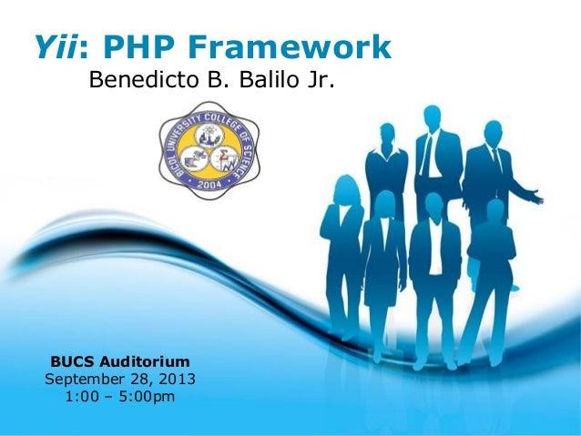"1ST TECH TALK: ""Yii : The MVC framework"" by Benedicto B. Balilo Jr."