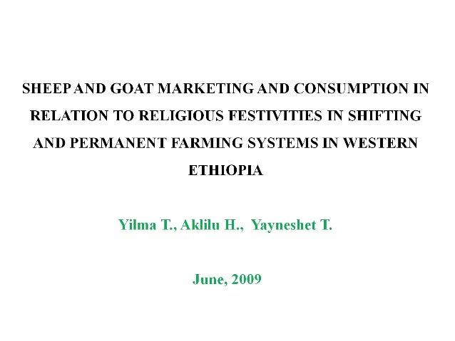 I - Introduction Background  Demand for meat and human popn are increasing in Ethiopia  A low growth rate of livestock o...