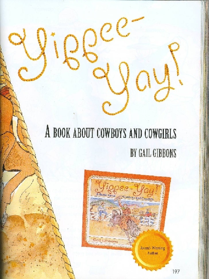 Yippee  Yah A Book About Cowboys And Cowgirls
