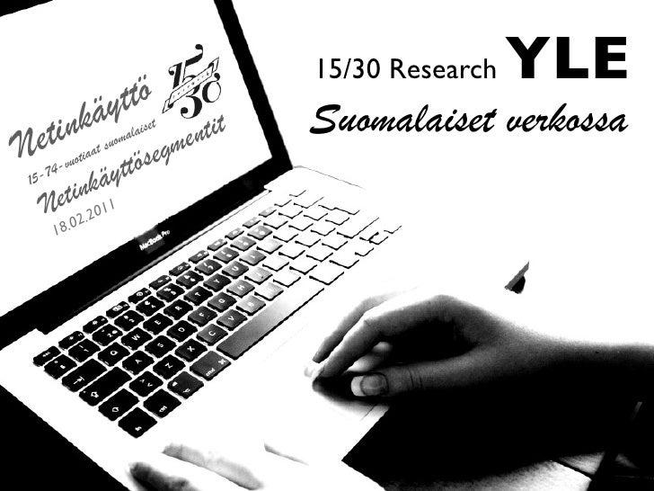 Ylen Suomalaiset verkossa 2010 - tutkimuksen esittely