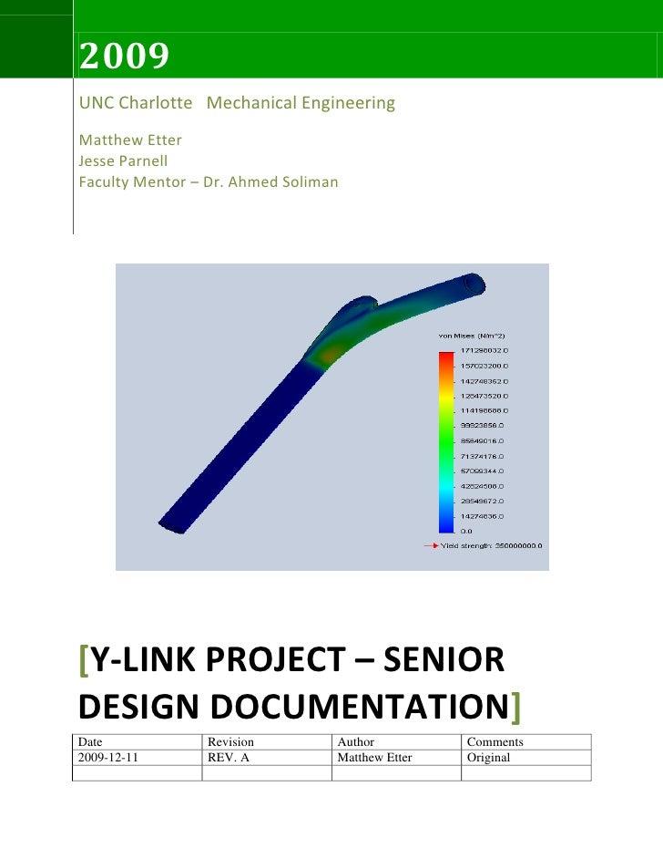 Y Link Final Report 2009